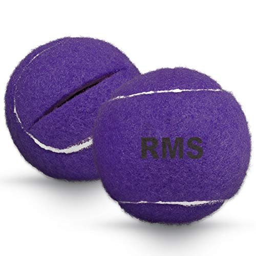 RMS Walker Glide Balls - A Set of 2 Balls with Precut Opening for Easy Installation, Fit Most Walkers (Purple)