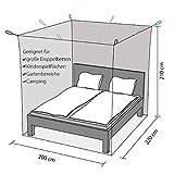 Outdoro Moskitonetz Kastenform inklusive Klebehaken für Reise und Zuhause - extra-groß für Doppelbett & Einzelbett - 4