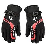 earlyad Herren Winter warme Handschuhe im Freien Motorrad Reitausrüstung Winddichtes Eindickung Skihandschuh