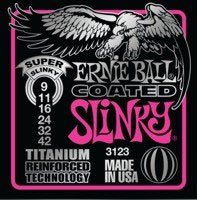 Ernie Ball EB-3123 Super Coated Slinky 009-042 Coated Titanium E-Gitarren Saiten