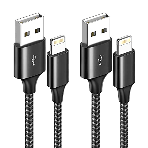 RAVIAD Cable Cargador iPhone [2Pack 1M] Cable Lightning Carga Rápida Trenzado de...