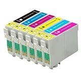 6compatible cartucho de tinta para Epson Stylus Photo P50, PX650, PX660, PX700W, PX710W, PX720WD, PX800FW, PX810FW, R265, R285, R360, RX560, RX585, RX685, T0801, T0802, T0803, T0804, T0805, T0806. T0807
