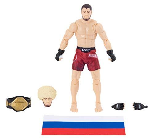 UFC アルティメットシリーズ 限定版 カービブ ヌルマゴメドフ 6インチ コレクター アクションフィギュア - ヘッドとグローブドハンド ファイトショーツ ベルト ロシア国旗アクセサリー