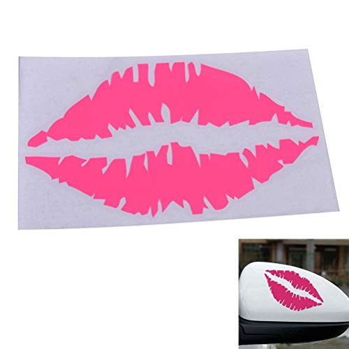 Pink Kiss Mark Lip Sexy Girl Lipstick Decal Vinyl Car Window Windscreen Wall Home Bumper Sticker Decoración de Halloween Regalo