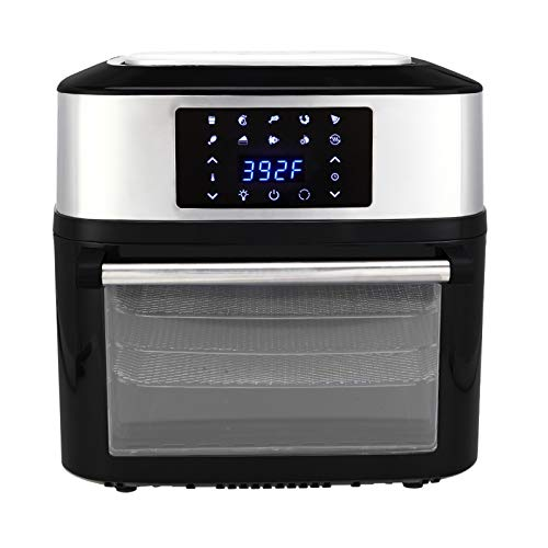 17 quart Air Fryers,8-in-1 Digital Air Fryer,Large 1800W Oven with Touch Control Panel for Commercial and Home Use 120V / 60Hz