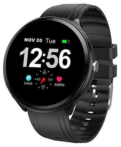 Smartwatch Pulsuhr Damen Herren Blutdruck Schlaf Schritt Kalorien Sport IP67 Wasserdicht Fitness Armband Uhr
