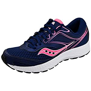 Saucony Women's VERSAFOAM Cohesion 12 Navy/Pink Road Running Shoe 8 Medium US