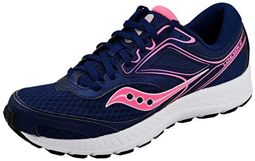 Saucony Women's VERSAFOAM Cohesion 12 Navy/Pink Road Running Shoe 9 Medium US