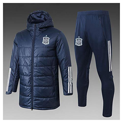 caijj Neue Herren Fußballuniform Geschenk Baumwolle Kleidung Fußball kältesicher Fußballfan kältesicher Anzug Fußball Hoodie männlich-B41-XXL