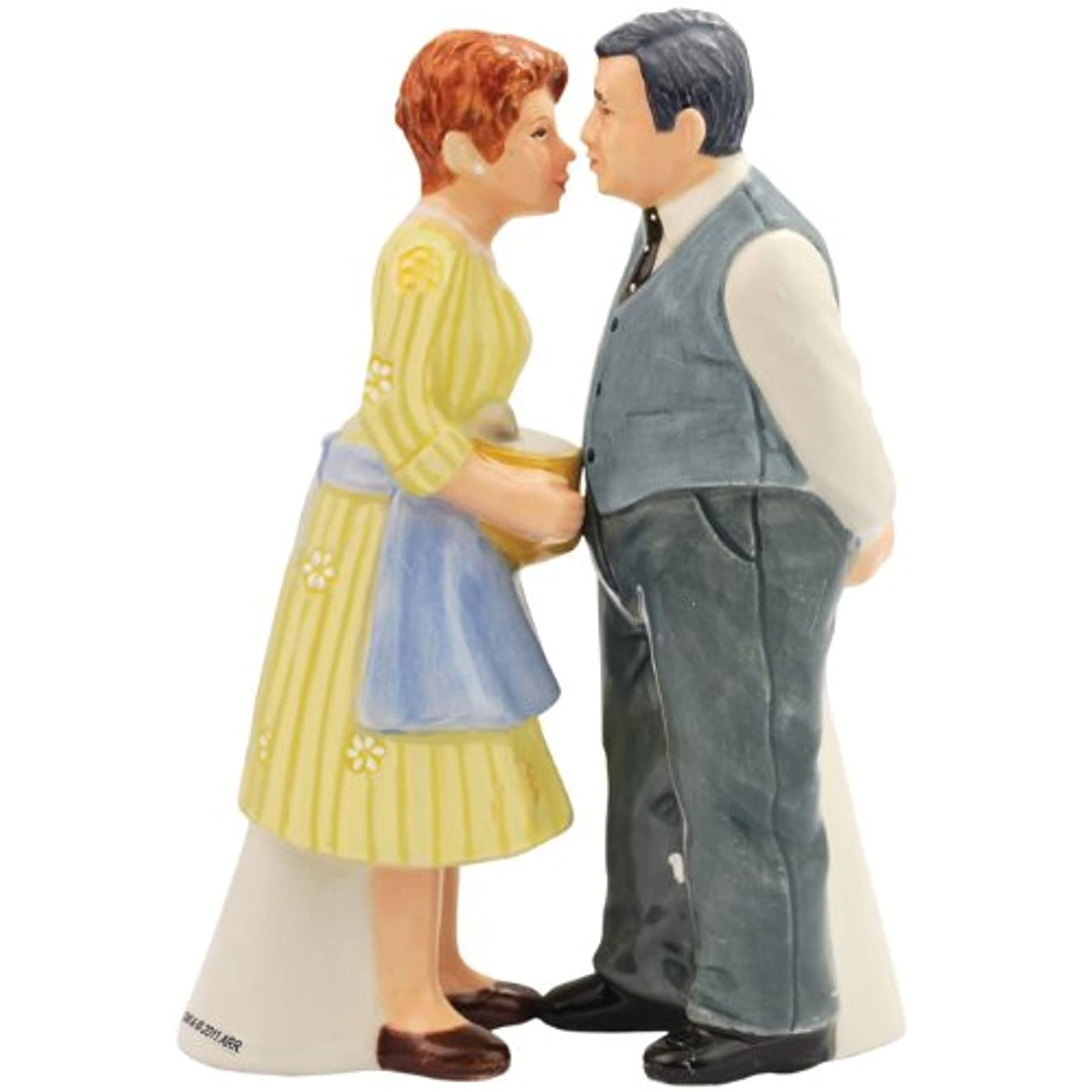 Westland Giftware Happy Days Magnetic Mr. and Mrs. C Salt and Pepper Shaker Set, 4-1/4-Inch