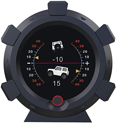 AUTOOL X95 GPS Velocímetro MPH Inclinómetro de automóvil Medidor de inclinación de nivel Repuesto automotriz Medidores múltiples Medidor de pendiente de ángulo de vehículo para vehículos todoterreno