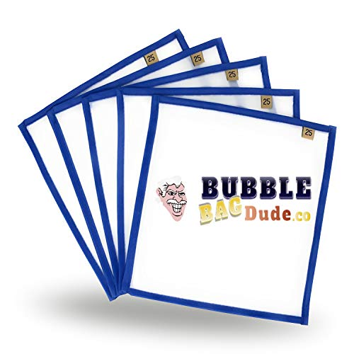 "BUBBLEBAGDUDE Pressing Screen (5 Pack of 25 Micron) 10"" x 10"" Herbal Essence Hash Bubble Ice Bag & Herbal Extractions - Fast Drying Process"