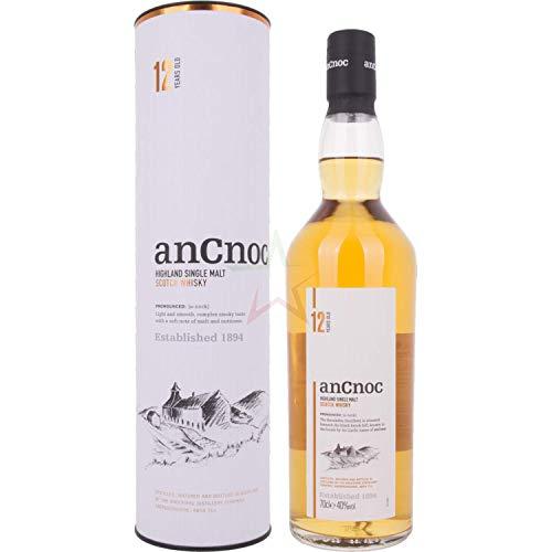 AnCnoc 12 Years Old Highland Single Malt Scotch Whisky 40,00% 0,70 Liter