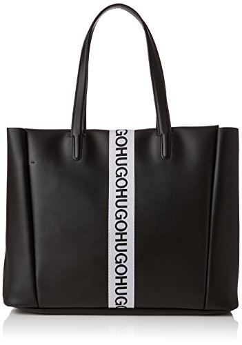 HUGO Kingston Small Tote schoudertas, zwart (zwart), 13x29x44 cm