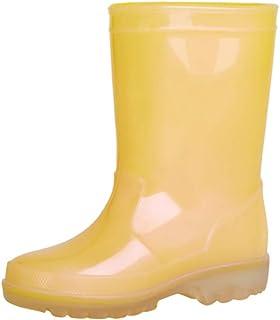 مقابض سهلة الارتداء للأطفال والبنات والأولاد من آيباتي بتصميم ظريف وحذاء مطر للأطفال الصغار للأطفال الصغار مقاوم للماء