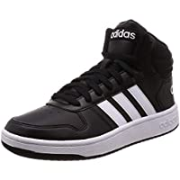 adidas Hoops 2.0 Mid, Zapatos de Baloncesto para Hombre, Negro (Core Black/FTWR White/Core Black Core Black/FTWR White/Core Black), 42 2/3 EU