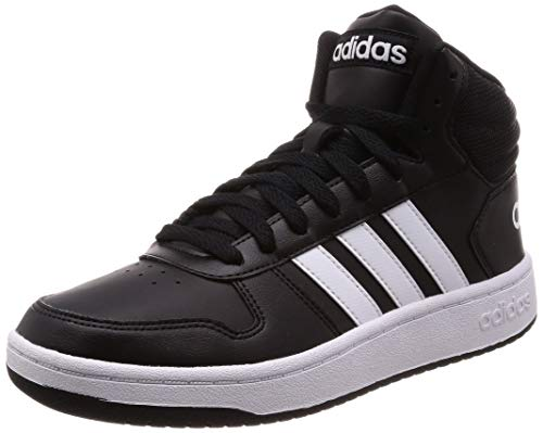 adidas Hoops 2.0 Mid, Zapatos de Baloncesto Hombre, Negro (Core Black/FTWR White/Core Black Core Black/FTWR White/Core Black), 43 1/3 EU