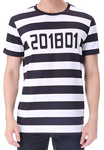 Funny World Men's Prisoner Costume T-Shirts (M)