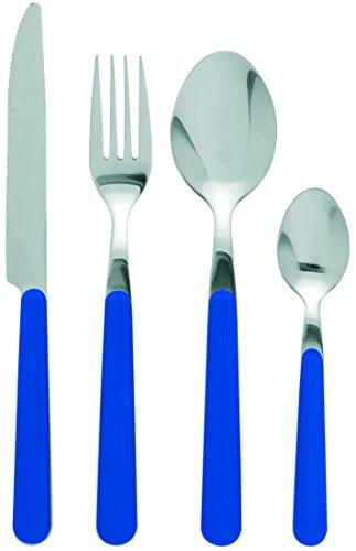 Excelsa Jolly Service Couverts, Acier Inoxydable, Bleu, 24 unités