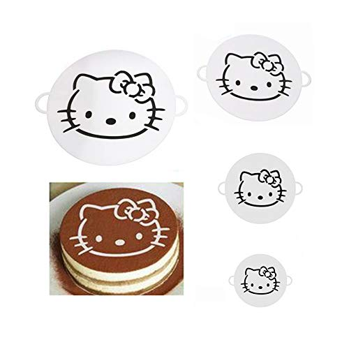Cake Decorating Supplies Hello Kitty Cake Decorations Stencil Molds Cute Birthday Cake Stencils Decorating Anime Wedding Cake Topper Cute Cat Cake Decorating Tools Graduation Cake Decorating Set of 4