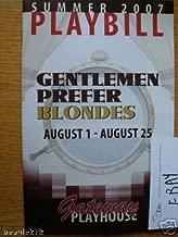 Brand New Color Playbill from Gentlemen Prefer Blondes Gateway Playhouse in NY starring, ELIZABETH STANLEY ERIN CROUCH PAUL CLAUSEN MICHAEL HAYWARD-JONES