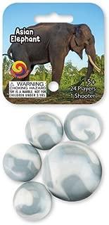 MegaFun USA Glass Mega Marbles Asian Elephant Game Net Set (25 Piece)