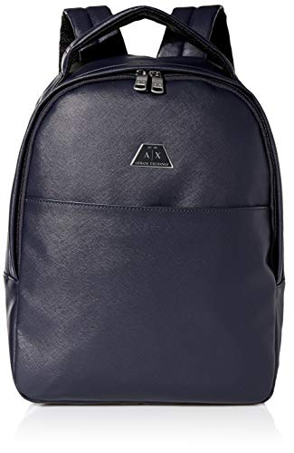 Armani Exchange Backpack with Handle, Mochilas para Hombre, Azul (Navy - Navy), 42x12x30 centimeters (B x H x T)