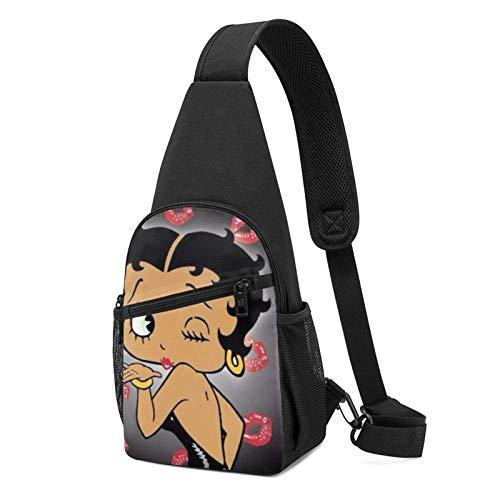 Betty Boop Face Bike Sling Mochilas de hombro bolsa de...