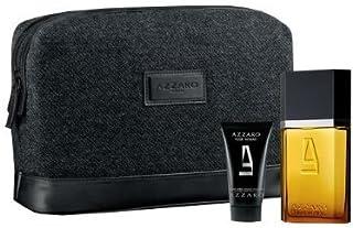 Azzaro Pour Homme Edt 50Ml cabello y cuerpo champú bolsa de viaje Set de regalo para él