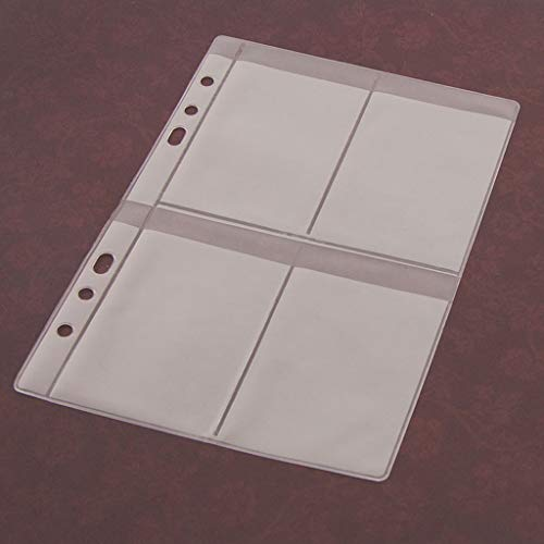 ECMQS 5 Blatt 3 Arten Scrapbooking Aufbewahrung Stanzen, Transparent Weiß,14cmx19.5cm/5.51inx7.68in (4 Gitter)