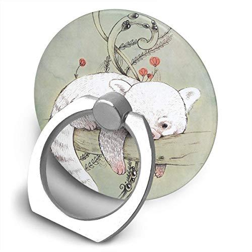 ARRISLIFE Red Panda! Soporte para teléfono,Round-Shaped Soporte para Anillo de teléfono Celular,360 Degrees Rotating Soporte de Metal