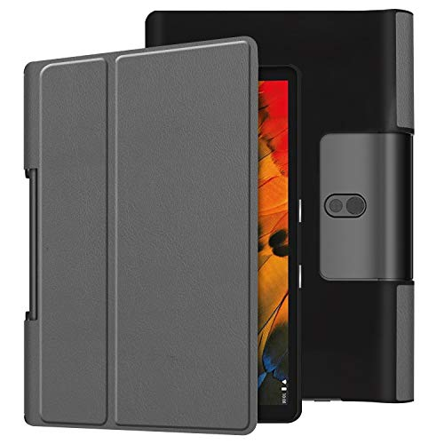 Case for Yoga Smart Tab YT-X705F, Ratesell Lightweight Fold Stand Microfiber Lining Case Cover for Lenovo Yoga Smart Tab 10.1 Inches Gray