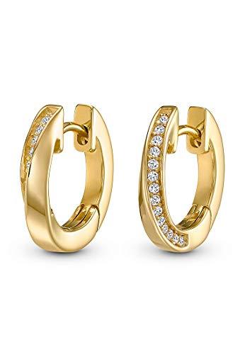 JETTE Silver Damen-Creolen 925er Silber One Size Gold 32010186