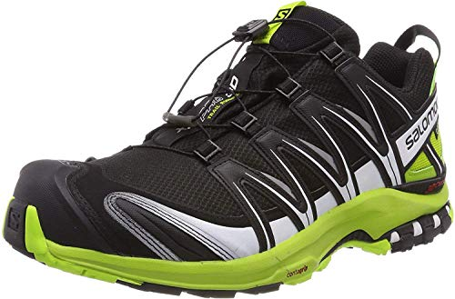 Salomon Herren XA PRO 3D GTX Traillaufschuhe, Schwarz (Black/Lime Green/White), 43 1/3 EU
