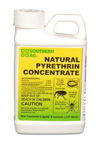 Southern Ag 10401 Natural Pyrethrin Concentrate, 8oz, Brown/A