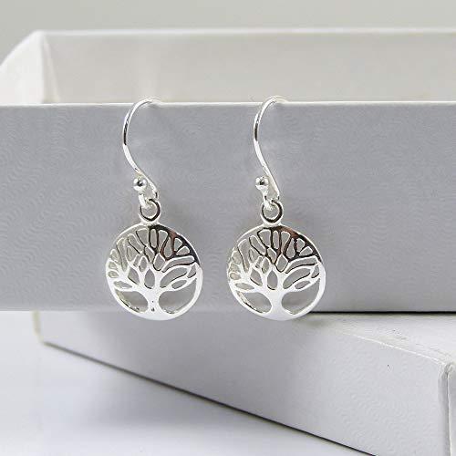 Sterling Silver Tree of Life Earrings 12mm Delicate Earrings