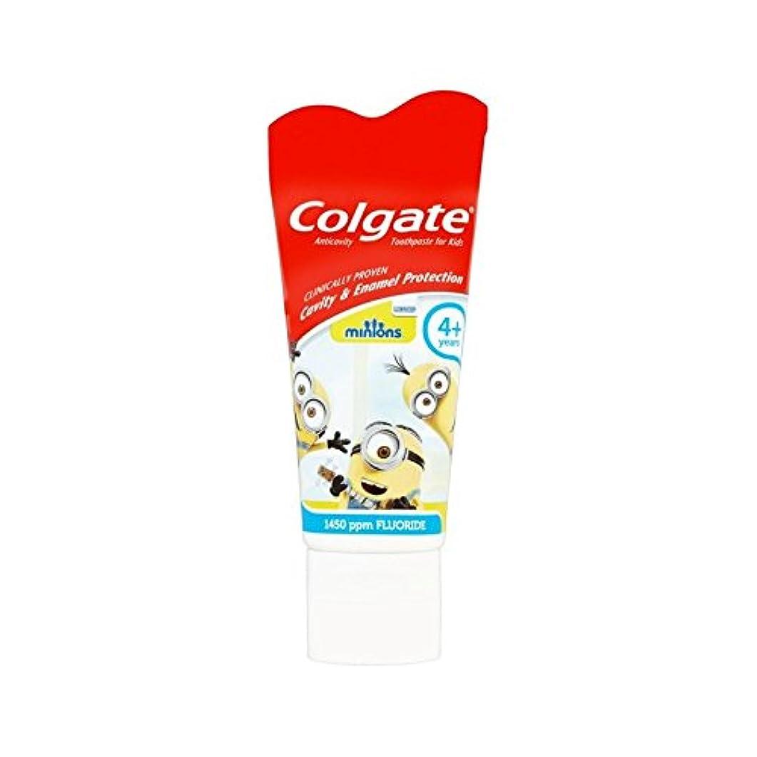 驚きブーストグレートバリアリーフ手下の子供4+歯磨き粉50ミリリットル (Colgate) (x 4) - Colgate Minions Kids 4+ Toothpaste 50ml (Pack of 4) [並行輸入品]