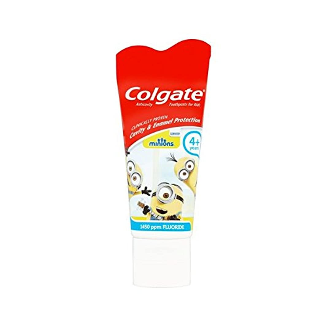 手下の子供4+歯磨き粉50ミリリットル (Colgate) (x 6) - Colgate Minions Kids 4+ Toothpaste 50ml (Pack of 6) [並行輸入品]