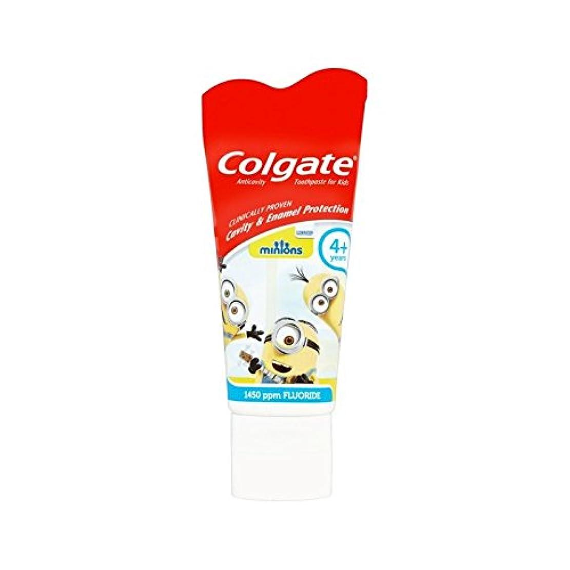 感謝祭頬腐った手下の子供4+歯磨き粉50ミリリットル (Colgate) - Colgate Minions Kids 4+ Toothpaste 50ml [並行輸入品]