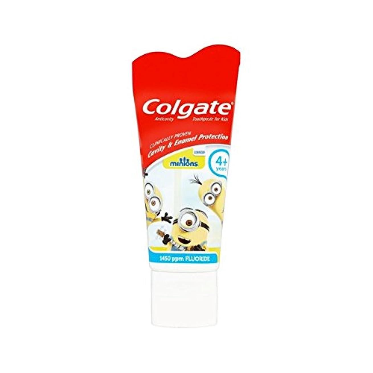 吐き出すタンザニア偽造手下の子供4+歯磨き粉50ミリリットル (Colgate) (x 2) - Colgate Minions Kids 4+ Toothpaste 50ml (Pack of 2) [並行輸入品]