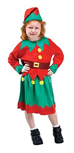 Bristol Novelty- Costume da aiutante di Babbo Natale, Colore Verde, Age 4-6 Years Old, CC612