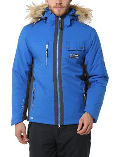 Ultrasport Advanced Ski-jack voor heren, snowboardjas, snowfox, afneembare capuchon met knoopbare kunstvachtrand, softshell winterjas, winddicht, waterdicht en ademend dankzij Ultraflow 8.000