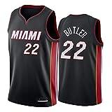 TSHULY Herren Basketball Weste Jerseys NBA Miami Heat 22