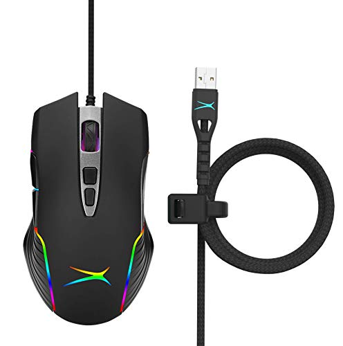 Premier Accessory Group Gaming Mouse Wired RGB Altec Lansing Ergonomic Game Mice, 1200-7200 DPI Inferno