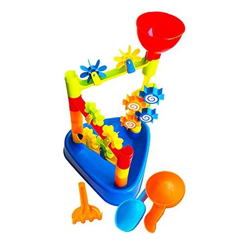 Juguetes para la arena y la playa Juego de juguetes para la arena, niños Mesa de arena y agua para la playa Mesa de arena para jugar al agua Juguetes de playa de verano Juguete de actividad educativa