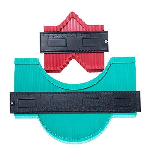 CLTPY Replicatore di Contorno 2 Pezzi Calibro di Contorno di Plastica Multifunzionale Allargato Contour Duplicator Gauge Profilometro per Misurazione Precisa di Forme e Contorni Irregolare