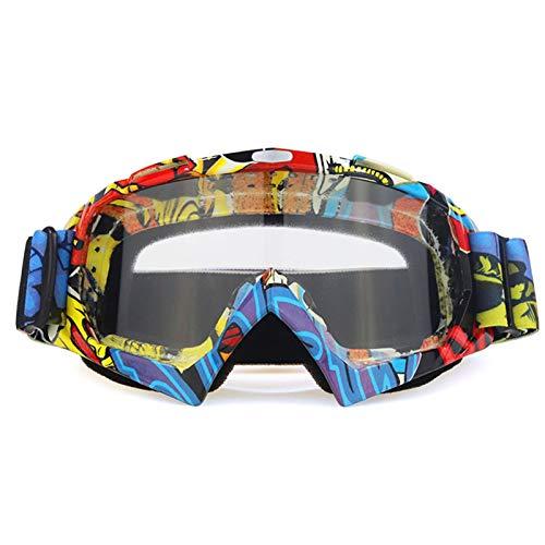 ZPEE Skibrillen Motorrad-Schutzbrille ATV Cross Country Helm Skibrille Motorradbrille Snowboard Racing Motor Bike Sonnenbrillen Schneesportbrille (Color : E)