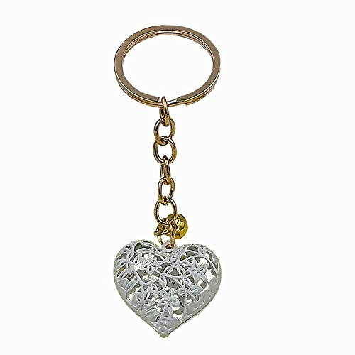 TZZD Hollow Heart Keychains Fashion Charm Cute Purse Bag Pendant Car Keyring Chain Ornaments Hanging Valentine's Day Gift Keychains (Color : 2)