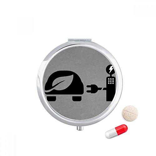 DIYthinker Automatic Charing Station Energie Voertuigen beschermen milieu Travel Pocket Pill Case Medicine Drug Storage Box Dispenser Spiegel Gift