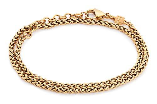 """Handmade Gold Bracelet For Men - Made Of Gold Plated Over Stainless Steel - Gold Chain Bracelet For Men - 14.5"""""""